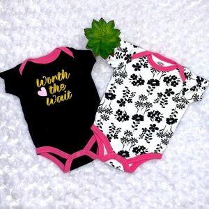 Baby Girl Onesie Bundle Size 0-3 Months
